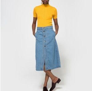 Farrow denim skirt